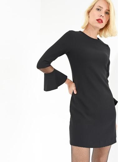 Kolları Volanlı Elbise-Agenda